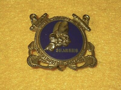Original WWII US Navy Seabees Insignia - Metal Arts Co., Sterling - PB