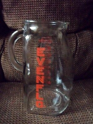 Vintage Evenflo Glass One Quart 32 OZ. Measuring Baby Formula Pitcher
