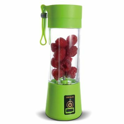 Cordless Personal Blender USB Portable Rechargeable Mixer Juicer Green