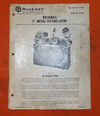 Rockwell Lathe Manual