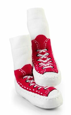 Red Mocc Ons Baby Toddler Slipper Shoe Socks Indoor Clothing Accessory