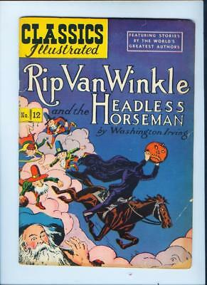 1940's-50's Rip Van Winkle Headless Horseman Classics Illustrated (Inv. No. 166)
