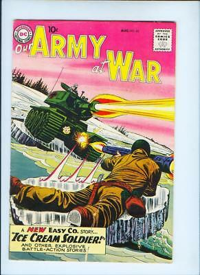 August 1959 Our Army At War No. 85 Comic Book - Dc Comics (Inv. No. 254)