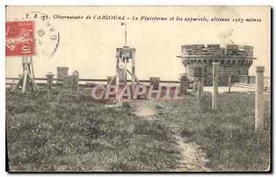 Vintage Postcard Astronomy Observatory of Aigoual the platform and apparatuses