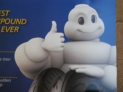 Michelin Man 2011 Giant Motorcycle Tire Advertising Poster Power Pure Sport Bike