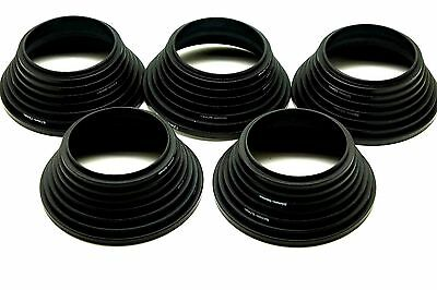 Lot Of 5 49-52-55-58-62-67-72-77mm 7pcs Black Metal Step Up Rings Lens Adapter