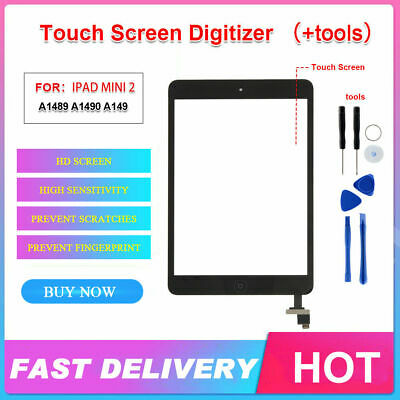 For iPad mini 1 2 Touch Screen Digitizer Replacement Lens+Home Button + IC Chip