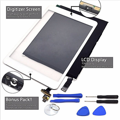 For iPad Mini 1 2 LCD Display + Touch Screen Digitizer Lens & Free Tempered Film
