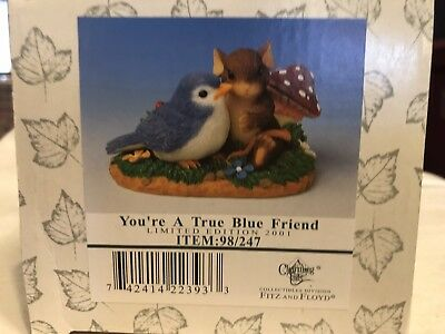 """Charming Tails """"YOU'RE A TRUE BLUE FRIEND"""" SIGNED BY DEAN GRIFF Spring BIRD"""