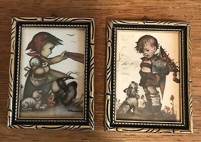 2 Vintage Hummel Framed Prints Made In West Germany