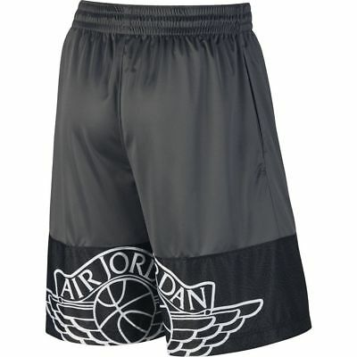 74f5155b40d1 New Men s Air Jordan Wings Blockout Basketball Shorts Black Grey 831336-021  S-2X