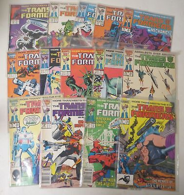 Vintage 1980s COMIC BOOK LOT (15) MARVEL TRANSFORMERS #31 - #51