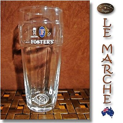 FOSTERS Collectors English Pint Embossed BEER GLASS 570ml NEAR NEW 🍺 Foster's A