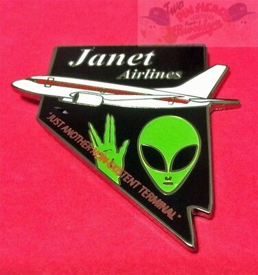 "Janet Airlines Flights To Area 51 ""official Members"" Pin"