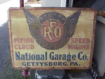 Early Reo Dealership Garage Sign