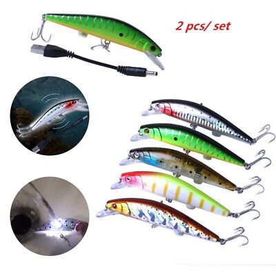 1/2 Rechargeable Twitching Fishing Lures Bait USB Tournament-Legal Buzzing Bait