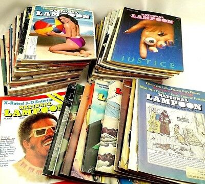 60 Different Vtg National Lampoon Magazine Issue Lot 1971-1990 Adult Humor 058