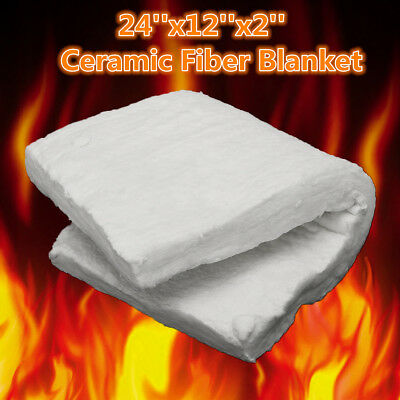 "AU 24""x12""x2"" Ceramic Fiber Insulation Blanket Thermal High Temperature 1206℃"