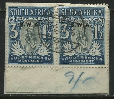 South West Africa 1935 Voortrekker 3d + 1 1/2d used pair (JD)