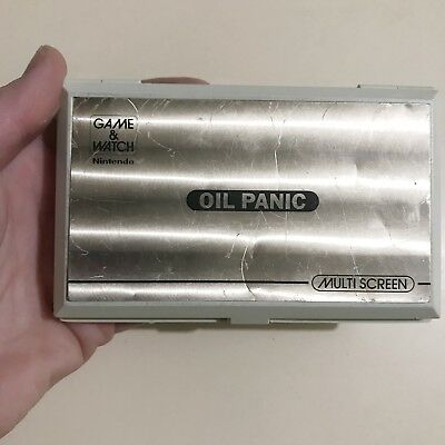Oil Panic Nintendo Game and Watch 1982 vintage