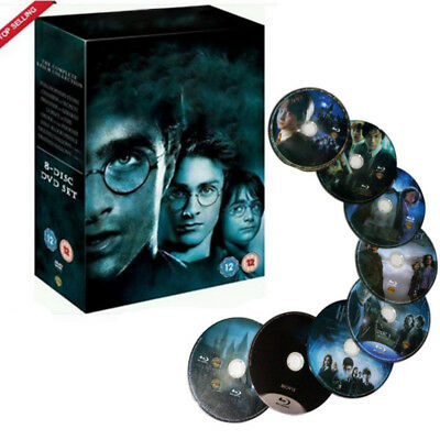 For Harry Potter DVD 1-8 Movie Complete Collection Films Box Set  R4 New Sealed