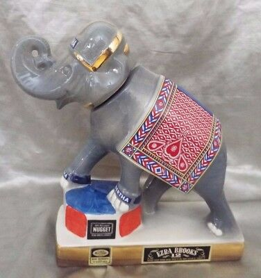 1970 Ezra Brooks Decanter - Nugget Casino, Bertha The Elephant - Full Size