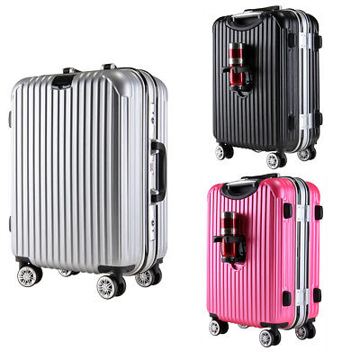 "20"" 24"" 28"" Aluminum Frame+ ABS Spinner Luggage Travel Bag Suitcase Hardshell"