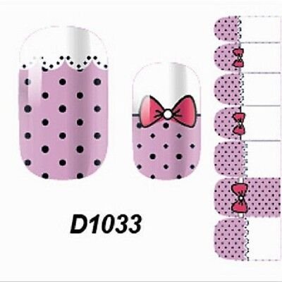 Lovely Pink Adhesive Polish Foils Art Decals Accessories Nail Wraps Stickers New