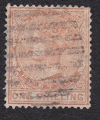 Lagos 1884 1/- orange S.G.26 used