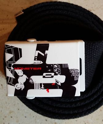 Ducati Monster Fabric Belt With Enamelled Buckle - A Rare Find