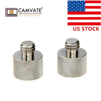 "2xUS CAMVATE 3/8""-16 Male to 5/8"" Female Thread Adapter Screw fr DSLR Microphone"