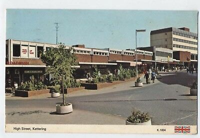 The High Street Kettering Northamptonshire Vintage Postcard A24
