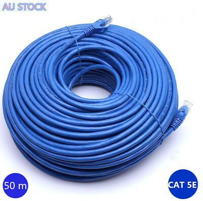 100Mbps 50m RJ45 Cat5e Ethernet Network LAN UTP Patch Internet Router DSL Cable