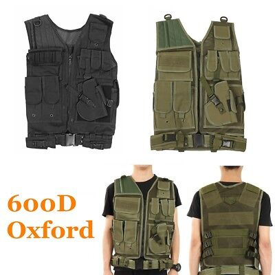 Military Tactical Vest Carrier Plate Combat Holster Molle Airsoft Paintball Vest
