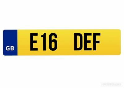 E16 DEF Private Car Registration Plate Number Personalised Cherished JAG