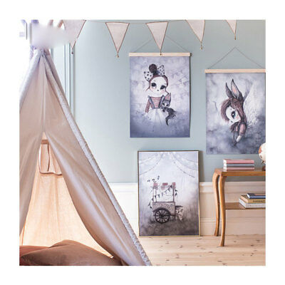 Bunny Boy and Girl Hand-painted Home Decor Wall Art Canvas painting Poster Print