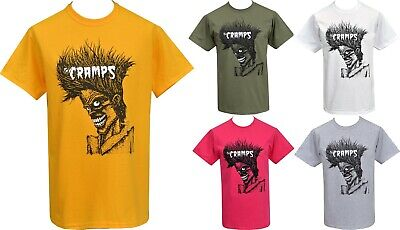 Mens Yellow T-Shirt The Cramps Bad Music Psychobilly Garage Lux Interior S-2Xl