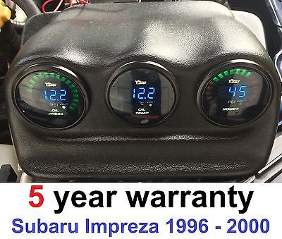 Triple Gauges Turbo Boost Oil Temp Oil Pressure Digital Led For Subaru Impreza