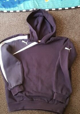 Boys Puma Hoody Age 8-9 Years 2 Tone Blue Excellent Used Condition