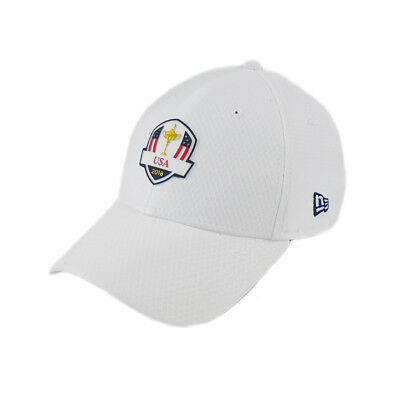 554d77fb516 NEW 2018 New Era 9Forty USA Ryder Cup Practice Rounds White Adjustable Hat  Cap