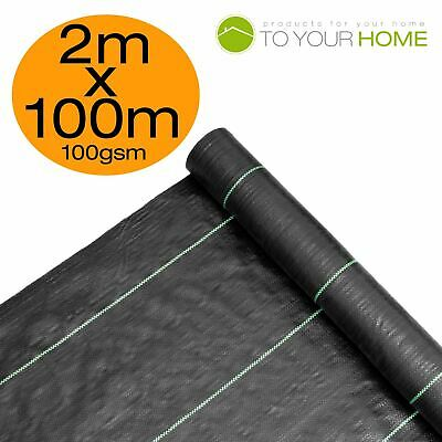 2m X 100m Ground Cover Fabric Landscape Garden Weed Control Membrane Heavy Duty