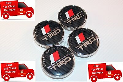 TRD CARBON CENTRE CAPS WHEEL 4pcs 60MM HUB BADGE LOGO EMBLEM YARIS CELICA SUPRA