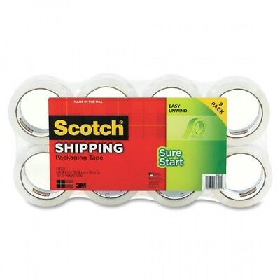Scotch Sure Start Shipping Packaging Tape, 1.88 Inches x 54.6 Yards, 8 Rolls