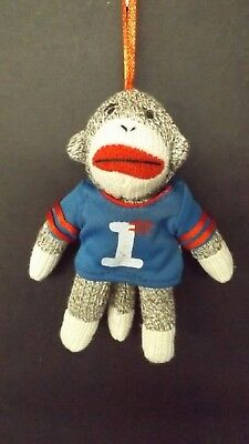 New Midwest Sock Monkey Sports Fan Hanging Ornament 27018 Mint with Tag