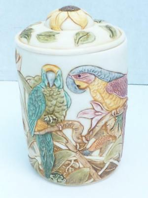 "Harmony Kingdom ""Tail Feathers"" Jardinia Exotic Bird Lidded Resin Jar VGC"