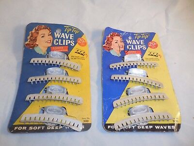 Vintage Tip-Top Wave Clips For Soft Deep Waves Original Package