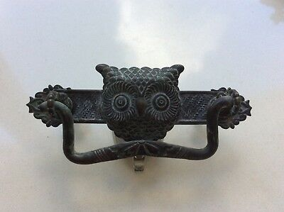 Antique Eastlake Victorian Owl Drawer Pulls Handles Pair