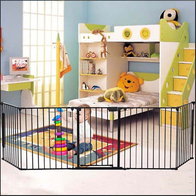 Fireplace Fence Baby Safety Fence Guard Hearth Gate BBQ Metal Fire Gate Pet Dog