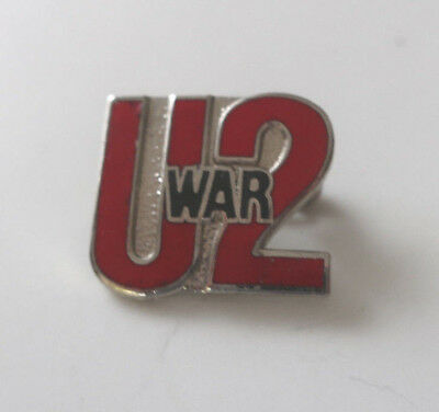 U2 Vintage 80's WAR Promo Pin Pinback Badge Bono