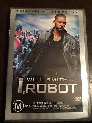 I, ROBOT Will Smith 2 Disc Collector's Edition Like New 2 DVDs R4